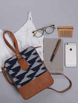 Blue Handcrafted Ikat Cotton Sling Bag