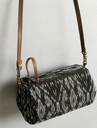 Black Handcrafted Ikat Cotton Sling Bag