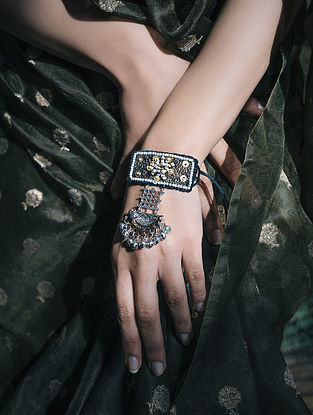 Black Handcrafted Fabric Bracelet