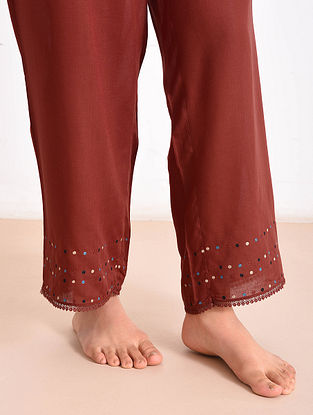 Madder Modal Embroidered Pants