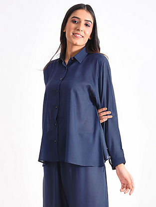 Blue Modal Ajrakh Top