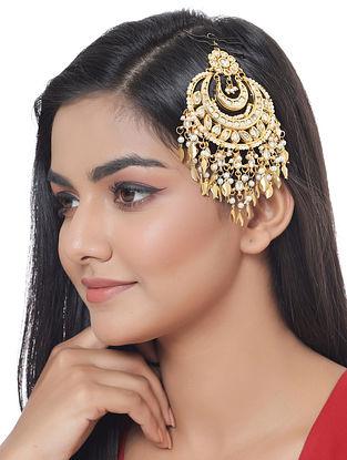 Gold Tone Kundan Passa