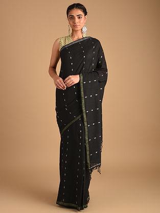 Black Handloom Khadi Jamdani Saree