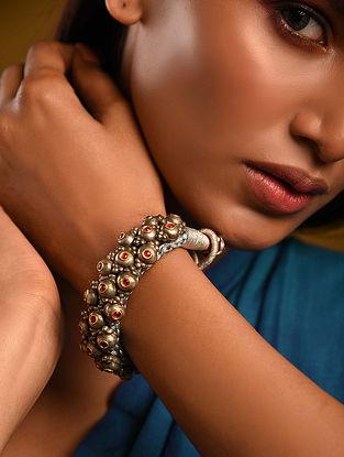 Gold Polki Ruby Bracelet
