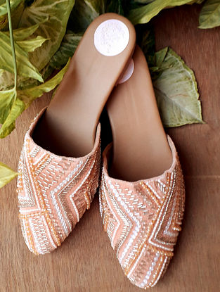 Peach Handcrafted Vegan Leather Mules