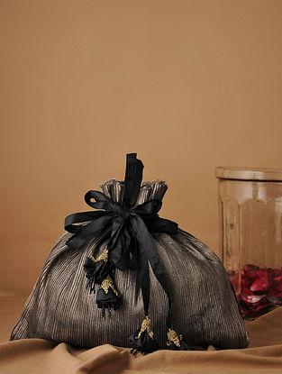 Silver Handcrafted Silk Potli
