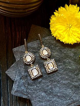 Diamond Silver Polki Earrings