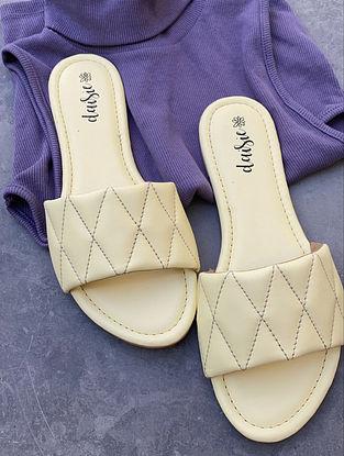 Lemon Yellow Handcrafted Vegan Leather Flats