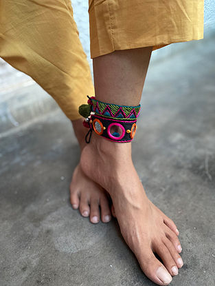 Multicolored Handcrafted Anklets