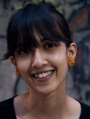 Mustard Handcrafted Earrings