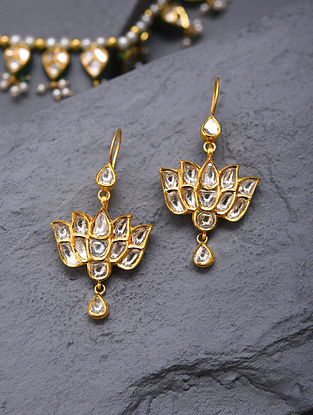 Gold And Diamond Polki Earrings