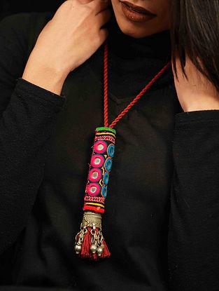 Multicolored Silver Tone Tribal Necklace