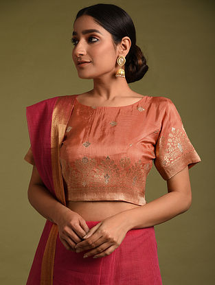 Red Handwoven Viscose Silk Blouses