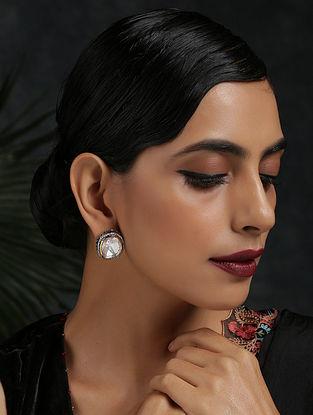 Silver Tone Kundan Earrings