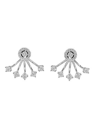 Silver Earrings with Cubic Zirconia