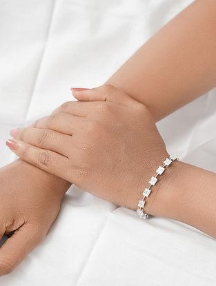 Silver Bracelet with Cubic Zirconia