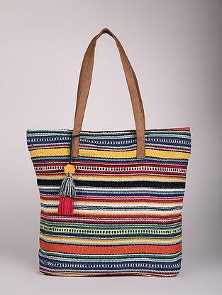 Multicolored Handcrafted Cotton Dari Tote Bag
