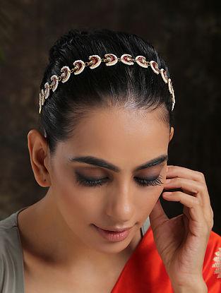 Red Gold Plated Beaded Headband
