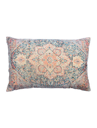 Multicolored Cotton Velvet Digital Printed Cushion Cover (16in x 24in)
