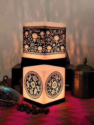 Handcrafted Mughal Garden Invert Art Candle Holder Set (Set Of 2)
