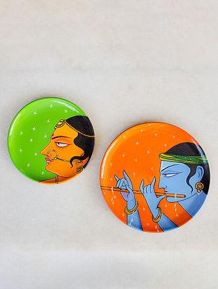 Radha Krishna Wall Plates (Set od 2)