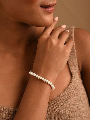 Cream Fresh Water Pearl Beaded Bracelet