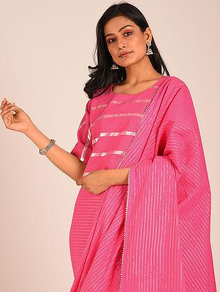 Pink Handwoven Cotton Blouse