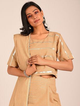 Brown Handwoven Cotton Blouse
