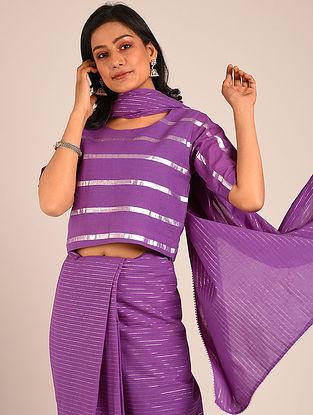 Purple Handwoven Cotton Blouse