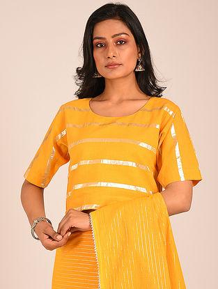 Yellow Handwoven Cotton Blouse