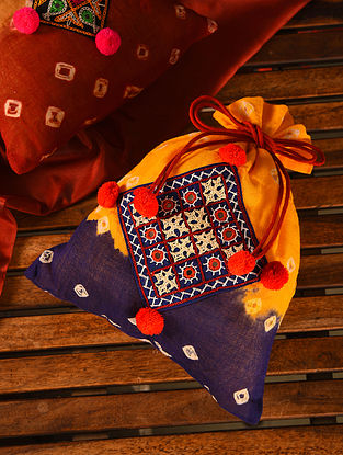 Multicolored Handmade Bandhani Cotton Potli