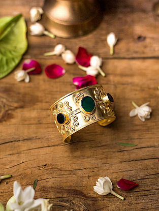 Gold Plated Silver Adjustable Bangle
