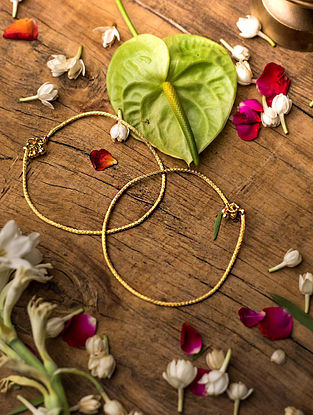 Gold Plated Silver Anklet