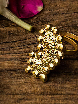 Gold Plated Silver Ring (Size: 24)