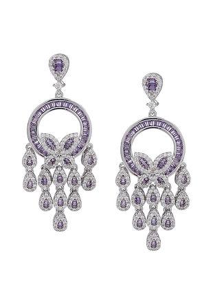 Lavender Silver Earrings