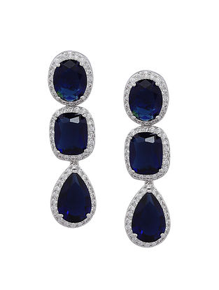 Blue Silver Earrings