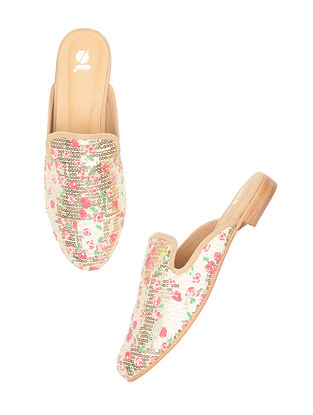 Gold Handcrafted Leather Mules