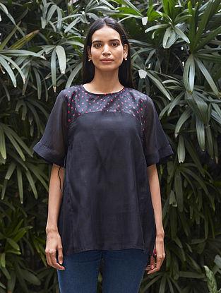 Midnight Black Bandhani Kurta