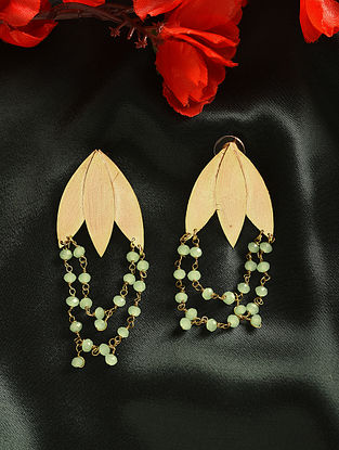 Green Gold Plated Handcrafted Earrings