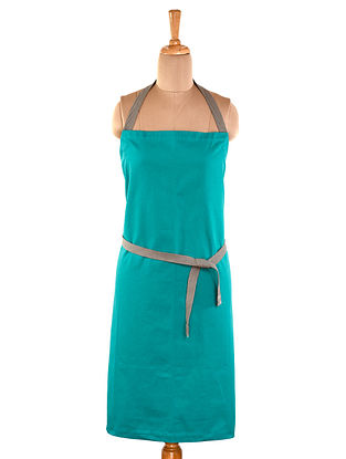 Teal Cotton Apron (L-33in ,W-22in)