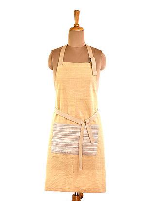 Brown Striped Cotton Apron (L-32in ,W-23in)