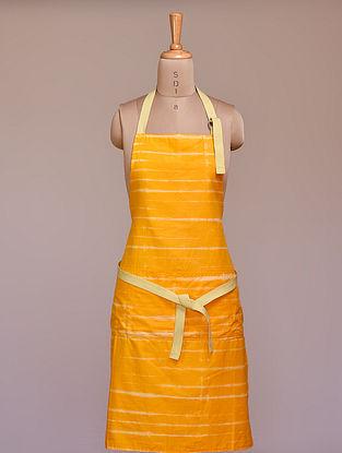Yellow Leheriya Cotton Apron (L-32in ,W-23in)