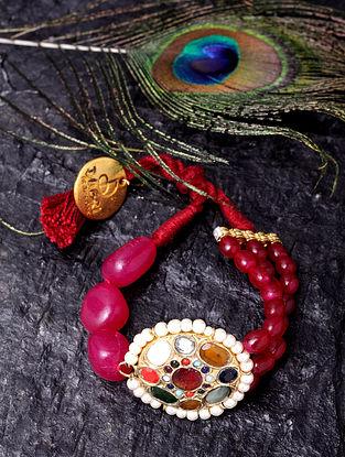 Multicolored Navratan Beaded Bracelet
