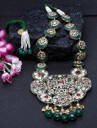 Multicolored Gold Tone Kundan Jadau Necklace