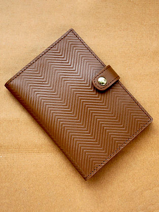 Tan Handcrafted Leather Passport Holder