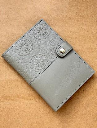 Beige Handcrafted Leather Passport Holder