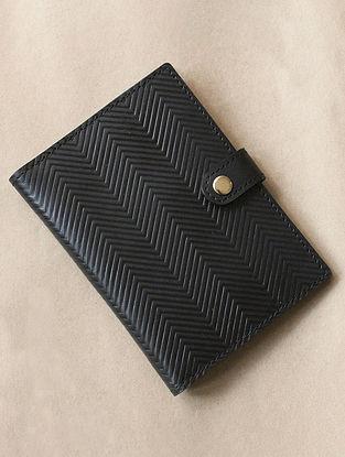 Black Handcrafted Leather Passport Holder