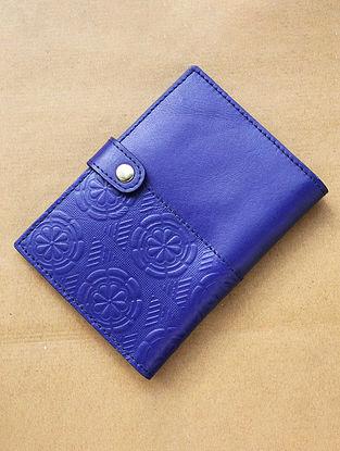 Blue Handcrafted Leather Passport Holder