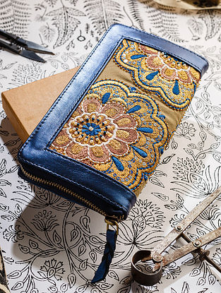 Gold Handcrafted Leather Wallet
