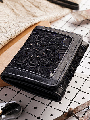 Black Handcrafted Leather Wallet